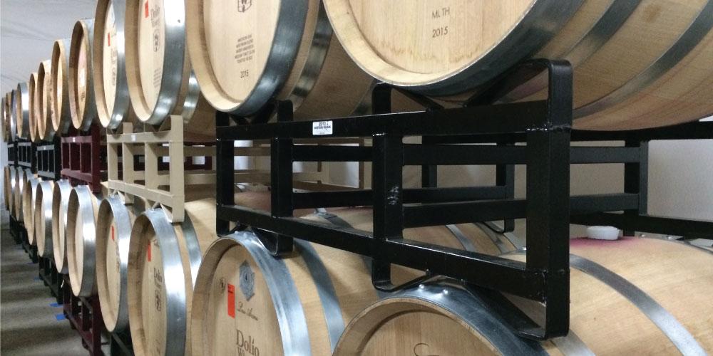 Barrels in Dolio Winery